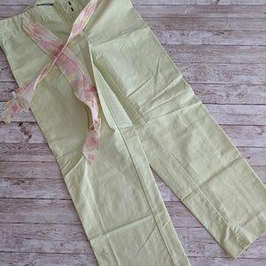Ann Taylor mint green cropped pants size 6